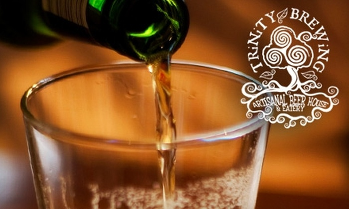 Trinity Brewing Company - Northwest Colorado Springs: $12 for $24 Worth of Artisanal Beer and Organic Fare at Trinity Brewing Company