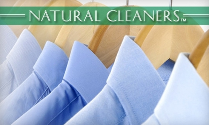 Natural Cleaners - Multiple Locations: $12 for $25 Worth of Eco-Friendly Dry Cleaning at Natural Cleaners