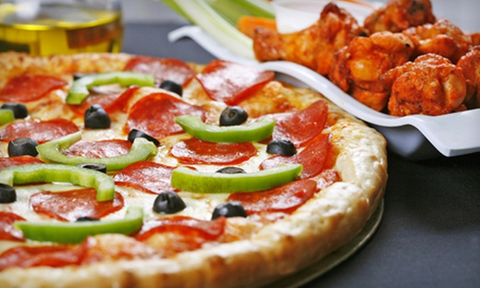Gerard's Pizza - Gardiner: $10 for a Large Two-Topping Pizza, a Small Order of Wings, and a Bottle of Soda at Gerard's Pizza in Gardiner  ($20.29 Value)
