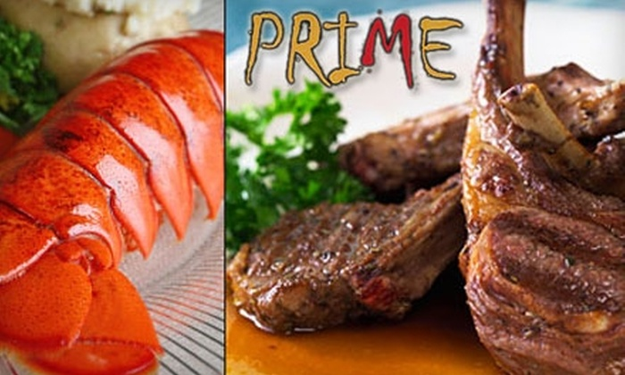 """Prime - Fells Point: $25 for $50 Worth of Fare and Drinks at Prime Steakhouse by """"Top Chef's"""" Timothy Dean"""
