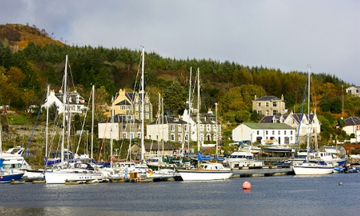 The Anchor Hotel and Sea Bed Restaurant - Tarbert: Argyll: 2 or 3 Nights For Two With Breakfast and Wine from £119 at The Anchor Hotel (Up to 60% Off)