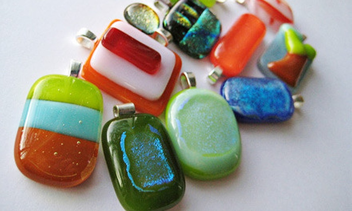 Smashin' Glass & Anything Art Co. - Parksville: $35 for a Fused Glass Pendant Class at Smashin' Glass & Anything Art Co. in Parksville ($72.80 Value)