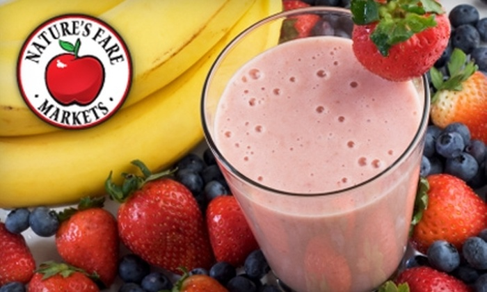 Nature's Fare Markets - Multiple Locations: Half Off Fresh Smoothies or Cleansing Drink at Nature's Fare Markets. Choose from Three Options.