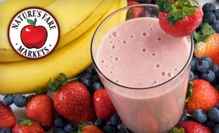 Nature's Fare Markets: $10 Worth of Fresh Smoothies - Nature's Fare Markets in Kelowna