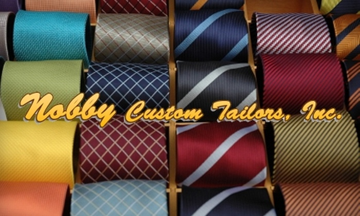 Nobby Custom Tailors, Inc. - Central Business District: $75 for $200 Worth of Custom Suits and Shirts at Nobby Custom Tailors, Inc.