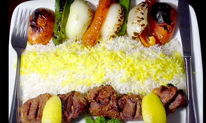Shiraz Cuisine - Watertown Town: $10 for $20 Worth of Authentic Persian Fare Plus Dessert at Shiraz Cuisine in Watertown ($24.99 Value)