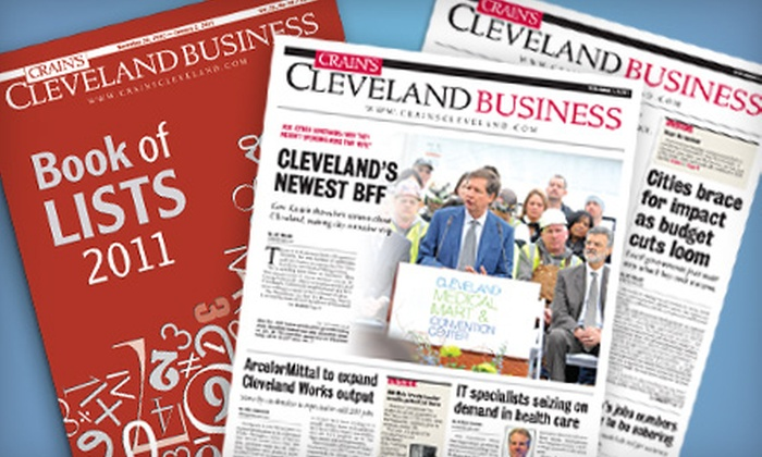 """Crain's Cleveland Business"": $28 for a One-Year Print-and-Online Subscription to ""Crain's Cleveland Business"" ($64 Value)"