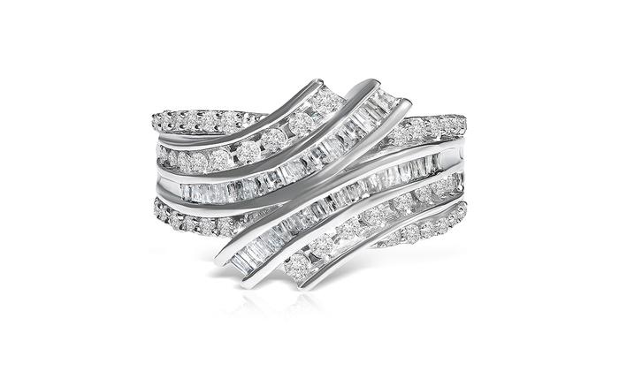 1 CTTW Diamond Ring in 10K Whi...
