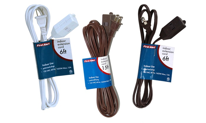 Two-Pack of First Alert Indoor Extension Cords: Two-Pack of First Alert Indoor Extension Cords. Multiple Lengths Available. Free Returns.