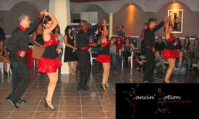 Dancin' Motion School of the Arts - Brandon: $32 for a Six-Week Session of Bachata or Salsa Dancing Classes at Dancin' Motion School of the Arts in Brandon