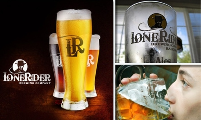 LoneRider Brewing Company - Umstead: $9 for a Private Brewery Tour, Souvenir Glasses, and Pints for Two at LoneRider Brewing Company