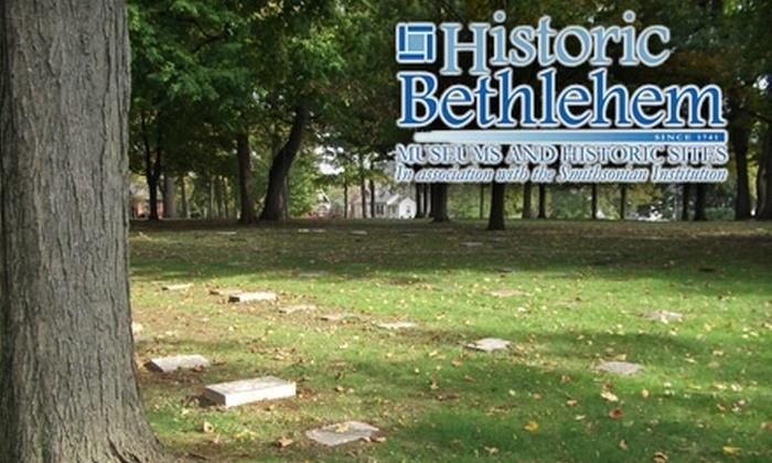 """Historic Bethlehem - Bethlehem: $6 Ticket to the """"Death and Dying"""" Walking Tour from Historic Bethlehem Partnership ($12 Value)"""