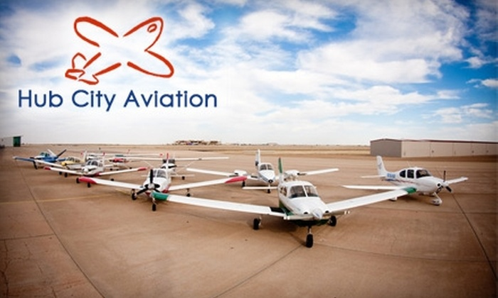 Hub City Aviation - Lubbock: $50 for Introductory 30-Minute Flight Lesson from Hub City Aviation ($100 Value)