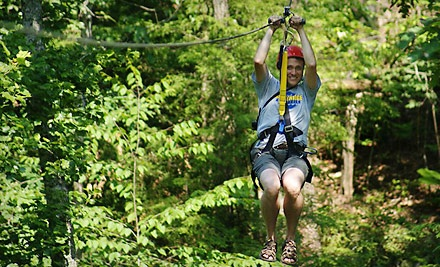 Good for 2-Hour Zipline Tour (an $89 value) and an Individual or Group Picture (a $15 value; a $104 value) - Red River Gorge Zipline Tours in Campton
