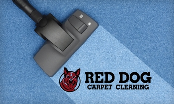 Red Dog Carpet Cleaning - Lincoln: $42 for a Carpet Cleaning in Two Rooms and One Hallway from Red Dog Carpet Cleaning ($100 Value)