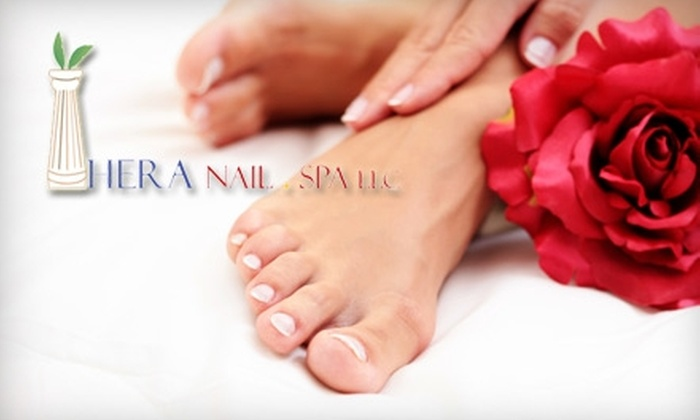 Hera Nail Spa - Littleton: $45 for a Shellac Manicure and Deluxe Pedicure ($100 Value) or $20 for a Signature Mani-Pedi ($50 Value) at Hera Nail Spa in Littleton