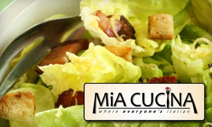 Mia Cucina - Central College: $15 for $30 Worth of Italian Fare and Drinks at Mia Cucina