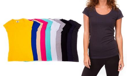 10-Pack of EC Fashions Junior's Composite Scoop-Neck T-Shirts