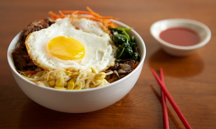 Menú coreano para 2 o 4 con bibimbap, bebida y postre desde 14,95 € en Modu Korean Bowl