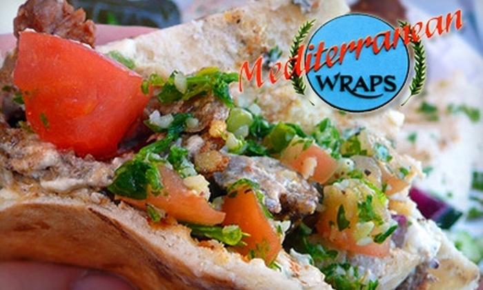 Mediterranean Wraps  - Downtown North: $7 for $15 Worth of Fresh Fare at Mediterranean Wraps