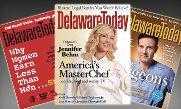 """Delaware Today"": $7 for a One-Year Subscription to ""Delaware Today"" ($14.97 Value)"