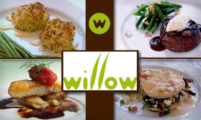 Willow Restaurant - Pittsburgh: $20 for $40 Worth of Contemporary American Cuisine and Drinks at Willow