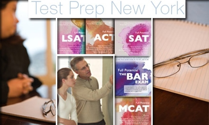 Test Prep New York - New York City: $250 for 1 Diagnostic Test and 3 Individual Tutoring Sessions from Test Prep New York for GRE, GMAT, LSAT, and MCAT ($750 Value)