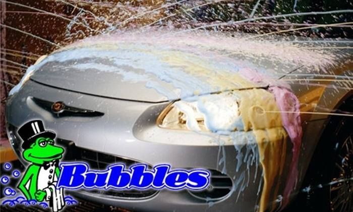 Bubbles Car Wash - Multiple Locations: $25 for $50 Worth of Car-Wash and Detailing Services at Bubbles Car Wash