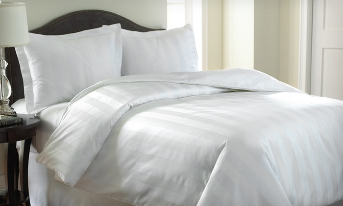 3-Piece 1,000-Thread-Count Egyptian Cotton Rich Reversible Duvet Set: $84.99 for a 3-Piece Reversible Duvet Set (Up to $359.99 List Price). 12 Options Available.