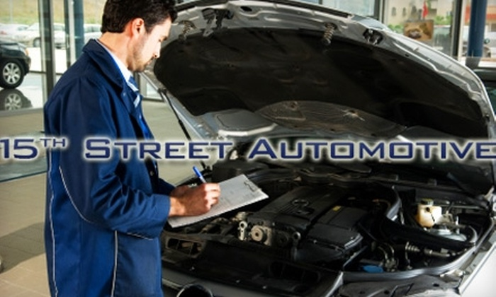 15th Street Automotive - Puyallup: $10 for a Standard Oil Change Plus Vehicle Inspection from 15th Street Automotive in Puyallup ($34.92 Value)