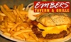 Embers Tavern and Grille - Columbia: $17 for $35 Worth of Steaks, Burgers, Drinks, and More at Embers Tavern and Grille