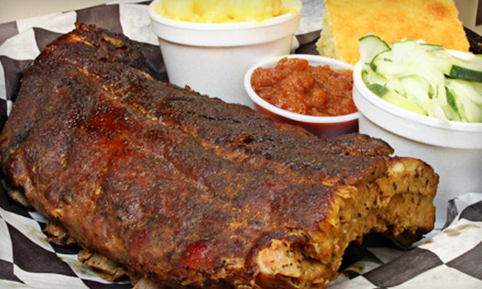 Buck's Roadside BBQ - Auburn: Barbecue Meal for Two or Family Pack at Buck's Roadside BBQ in Auburn (Up to 53% Off)