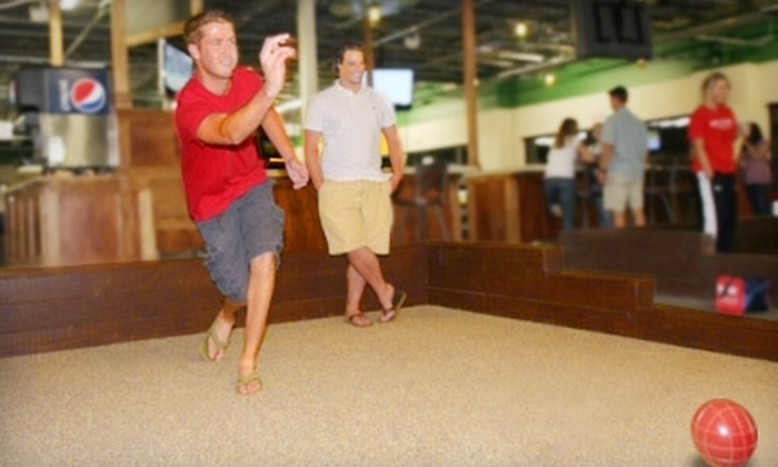 Bocce Basement - Olathe: $23 for 1.5 Hours of Bocce Ball, a $10 Concessions Credit, and Four Sodas at Bocce Basement in Olathe (Up to $63 Value)