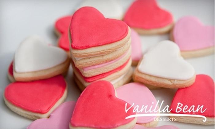 Vanilla Bean Desserts: $18 for One Box of 18 Valentine's Day Sugar Cookies from Vanilla Bean Desserts ($36 Value)