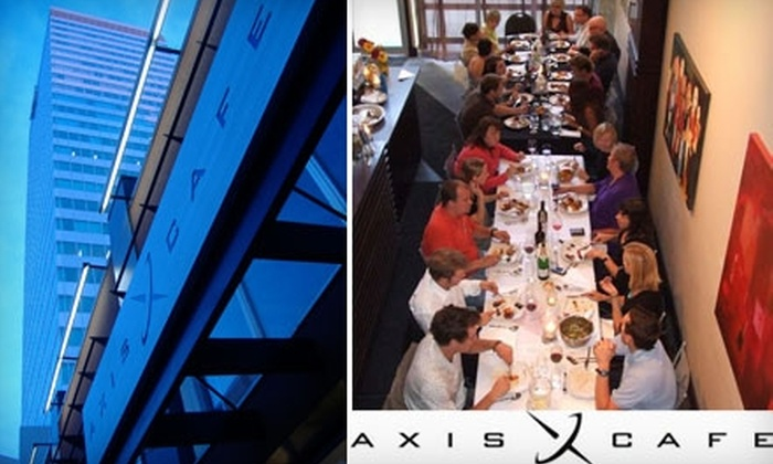 Axis Cafe - Downtown: $7 for $15 Worth of Eclectic Bistro Fare at Axis Cafe