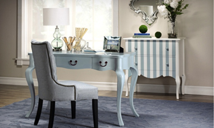 Home Decorators Collection: $239 for a Louisa Wooden Desk in Dark Blue, Green, or White. Shipping Included ($369 Total Value).
