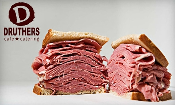 Druthers Cafe & Catering - Multiple Locations: $10 for $25 Worth of NYC Deli Sandwiches, Salads, and More at Druthers Cafe & Catering