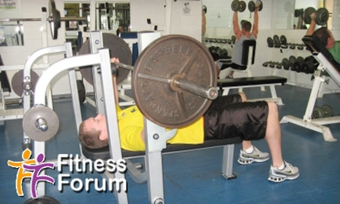 Fitness Forum - White Oaks: $20 for a One-Month Gym Membership at Fitness Forum