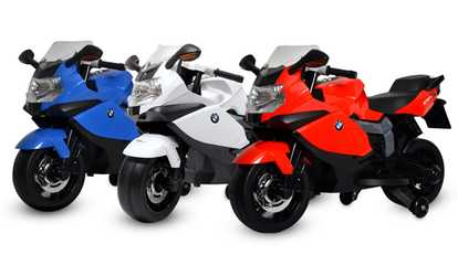 image placeholder image for bmw k1300s ride on motorcycle for kids