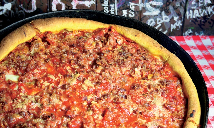 Deep Dish Pizza And Full Menu Ginos East Groupon