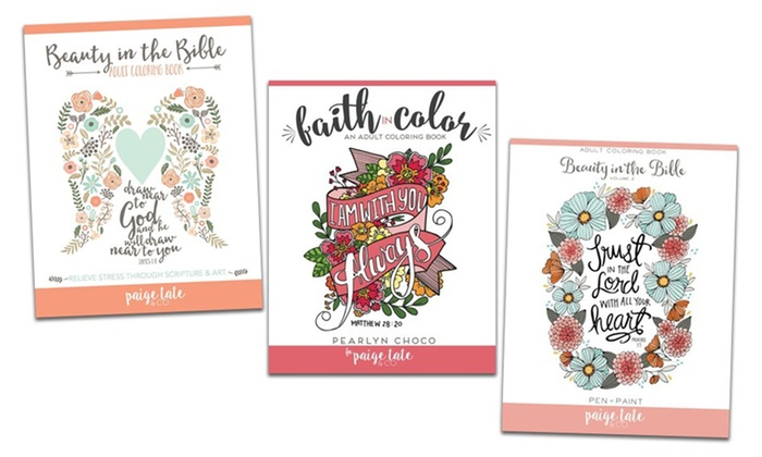 Beauty In The Bible Adult Coloring Book Bundle
