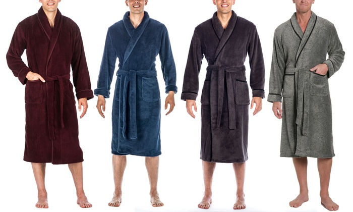 bd7cf23085 Up To 40% Off on Men s Plush Spa or Bath Robe