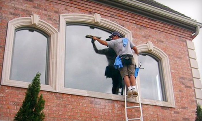 A Fine Shine - Edmond: $49 for Window-Washing or Gutter-Cleaning Services from A Fine Shine (Up to $140 Value)