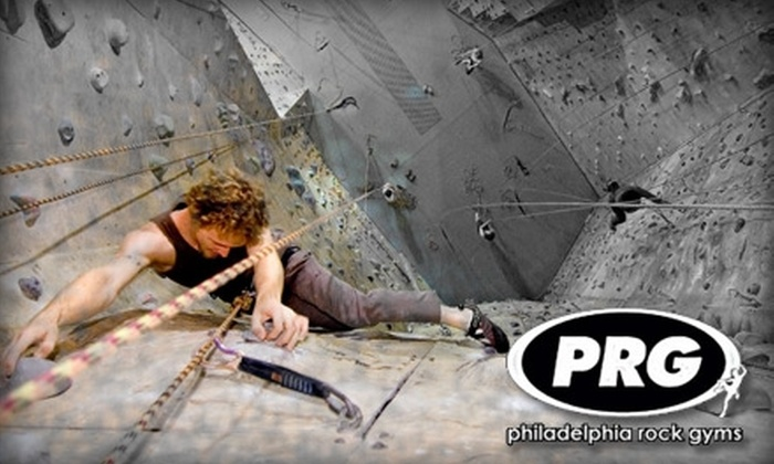 Philadelphia Rock Gym - Multiple Locations: $20 Introduction to Climbing Package at Philadelphia Rock Gym