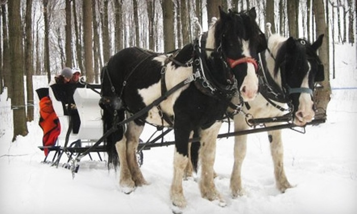 Wolcott Farms - Orangeville: $75 for Two-Person Sleigh Ride or Wagon Ride at Wolcott Farms ($150 Value) in Warsaw