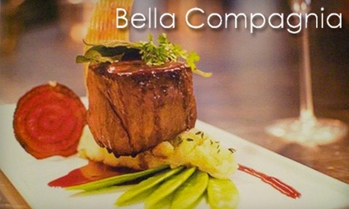 Bella Compagnia - Houston: $175 for an At-Home Prix Fixe Four-Course Dinner for Two from Bella Compagnia ($350 Value)
