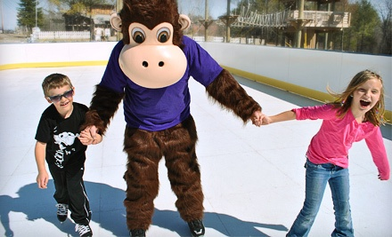 Two Outdoor Ice-Skating Admissions and Two 20-oz. Drinks (up to a $20 Value) - Monkey C Monkey Do in Wiscasset
