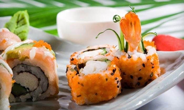 Monsoon Lounge & Sushi - Lakeshore: Sushi and Drinks at Monsoon Lounge & Sushi. Two Options Available.