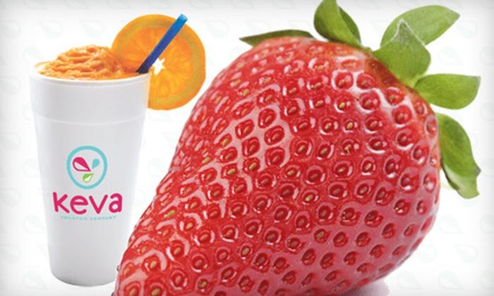 Pueblo Keva Juice - Hyde Park: Four Smoothies or Smoothies, Stuffed Pretzels, and Frozen Yogurt at Pueblo Keva Juice.