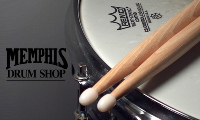 Memphis Drum Shop - Cooper Young Community Association: $22 for Two 30-Minute Private Drum Lessons at Memphis Drum Shop ($45 Value)